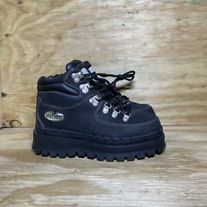 Skechers Vintage Platform Chunky Tough Shoes Ankle Boots Y2K 90s Womens Size 6.5