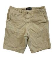 "American Eagle Mens Size 30 Khaki Extreme Flex Slim Chino Shorts 9.5"" Inseam"