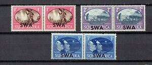 South West Africa 1945 SGt # 131-133 Mint Never Hinged Set in pairs