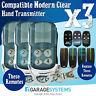 Compatible Superlift Avanti Modern Clear Garage Door Remote Transmitter x3