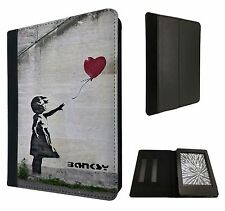 """BANKSY Grafitti Arte Globo Girl Kindle Paperwhite 6"""" Completo Funda Flip Cover"""