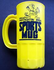 Notre Dame Fightin' Irish NCAA Yellow Plastic Official Sports Mug Cup 6 1/2""