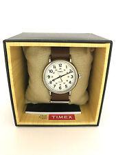 Timex Men's T2P495 Weekender Analog Watch Brown Leather