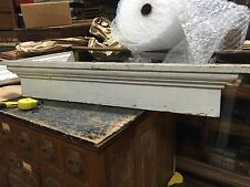 c1880 vintage VICTORIAN window header PEDIMENT lintel OLD white paint 48 x 8 x 3