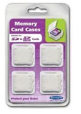 Integral Secure Digital Sd, Sdhc Cámara de tarjeta de memoria de almacenamiento casos 4 Pack