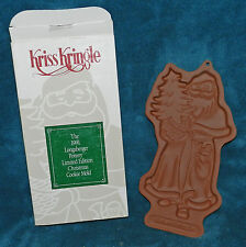 1991 Longaberger Pottery Kriss Kringle Cookie Mold! Limited Edition! Nos