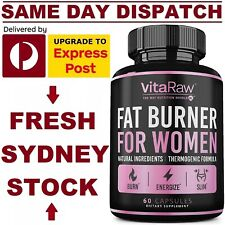 VitaRaw FAT BURNER WOMEN 60 Caps ADVANCED WEIGHT LOSS SLIMMING KETO Diet Pills!