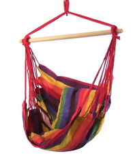 Hanging Hammock Chair Swing with Seat Cushions Indoor Outdoor Use in Sunset