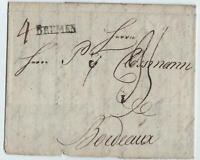 BREMEN 1789 (Teil-)Brief, BREMEN nach BORDEAUX/Frankreich