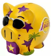 Los Angeles Lakers NBA Forever Collectibles Pig Leaguers Team Piggy Bank - 4x4x4