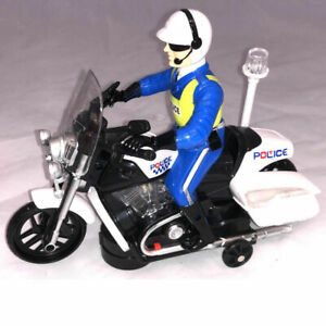 Boy Electric Large Police Motorcycle Music Light Up Wheel Car Educational Toys