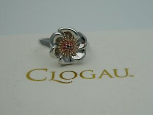 Clogau Silver & 9ct Rose Gold Welsh Poppy Ring RRP £179.00 size J,K,O,P,Q