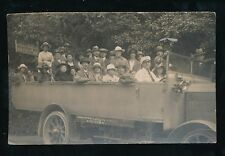 Somerset CHEDDAR Charabanc at Gough's Caves entrance 1922 RP PPC