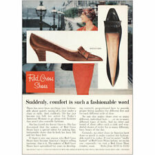 1959 Red Cross Shoes: Comfort Is Such a Fashionable Word Vintage Print Ad