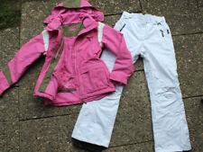 Damen-Snowboardanzug ( Skianzug ), 44 L Jacke ist von TCM rosa weiß
