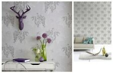 Arthouse Willow Song Grey Silver Tree Leaf Wallpaper 664700