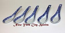 Ceramic Soup Spoon Blue/White Designed, Set/5pcs