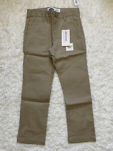Old Navy Boys School Uniform Pants Sz 7 Khaki Adjustable Waistband NWT