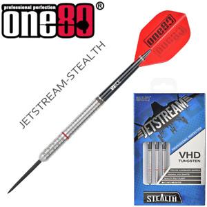 One80 - Jetstream Stealth - 22g - 90% VHD Tungsten Steel Tip Darts - Handmade.