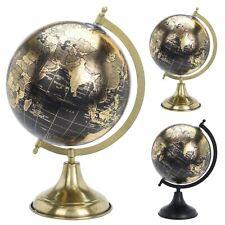 Beautiful World Globe On Metal Stand | Decorative World Map Ornament - 33cm