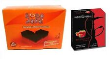 Coco Java Natural Hookah Coal 12 pcs + Choose Any 1 Flavor Hydro Herbal 50g