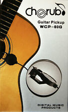 "Cherub WCP-60G Clip-On Acoustic Guitar Pickup, Six ft. Cable w/1/4"" Male Jack"