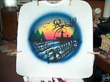 FISHING Airbrushed T-shirt Personalized All Sizes to 6X