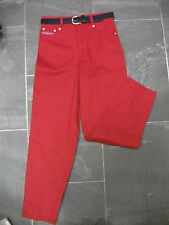 BRAND NEW RETRO RED WHOOPI HIGH WAISTED JEANS *AGE 14*