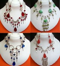 SALE 20 NECKLACES & EARRINGS MURANO GLASS PERU-10 Sets