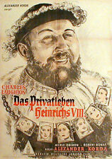 Charles Laughton PRIVATE LIFE OF HENRY VIII. 1sh 1949
