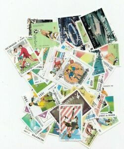 Football 100 Different Stamps