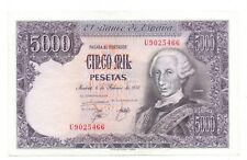 More details for 1976 crispy ef spanish 5,000 pesetas banknotes 1978 issue spain pick 155