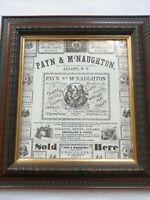 FRAMED AMERICAN PRINT - PAYN & McNAUGHTON - PRINT ADVERTISEMENT