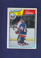 Billy Carroll RC 1983-84 O-PEE-CHEE OPC Hockey #5 (EXMT+) New York Islanders