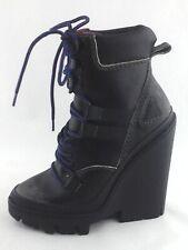DIESEL D-Vibe MB Ankle Boots Wedge Platform Black Womens US 6 EU 36 $298