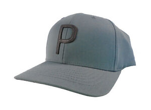 NEW Puma Rickie Fowler British Open P Lux 110 Quarry/Brown Leather Snapback Hat