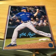 Toronto Blue Jays J un Happ ja firmado Mlb 8x10 Foto Papel de Aluminio Holográfico cert. de autenticidad Foto automática