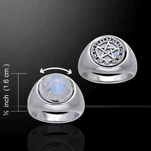 Celtic Pentacle Ring Sterling Silver Reversible Flip Jewelry Peter Stone Fine