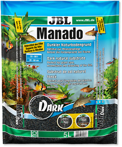 JBL Manado DARK dunkler Naturbodengrund Aquarien Aquarium Kies Bodengrund 5 /10L