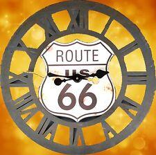 Wanduhr Eisen rund offen Geschenk Vintage Ästhetik Rarität Route 66 Zeitzeuge1