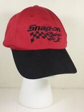 Snap On Tools Racing Baseball Hat Cap Red Black Embroidered Adjustable
