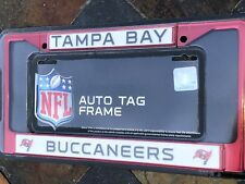 1 Tampa Bay Buccaneers Red Metal Vehicle License Plate Frame Nice 3D Graphics