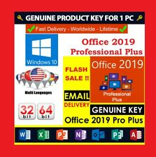 Microsoft Office 2019 Pro Plus 🔥  License Key 🔑 Windows 10🏆 Phone Activation