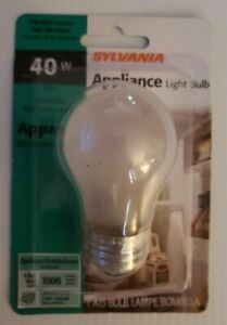 40W Sylvania Appliance Light bulb Frosted 40A15/IF/APPL/BL Anti-Vibration