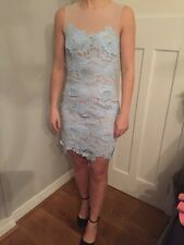 Missguided Summer Dress Size 10 Light Blue, Nude Net and Lace. New with tags