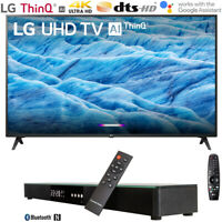 "LG 55UM7300PUA 55"" 4K HDR Smart LED IPS TV w/ AI ThinQ (2019) + Soundbar Bundle"