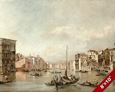 GRAND CANAL VENICE ITALY SCENIC SHIPS SEASCAPE ART PAINTING REAL CANVAS PRINT