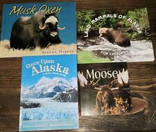 Lot Of 4 Children's Alaska Books Musk Oxen Land Mammals Once Upon Love of Moose