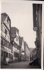 Orig. Foto NECKARGEMÜND Straßenpartie Fahne 1939