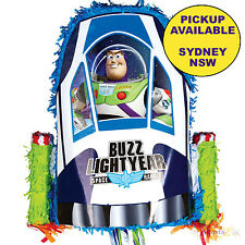TOY STORY PARTY SUPPLIES BUZZ LIGHTYEAR 3D PULL STRING PINATA PINYATA GAME